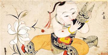 中国美术馆展出杨柳青古版年画精品